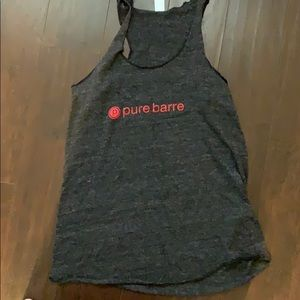 Pure barre tank size medium heather gray
